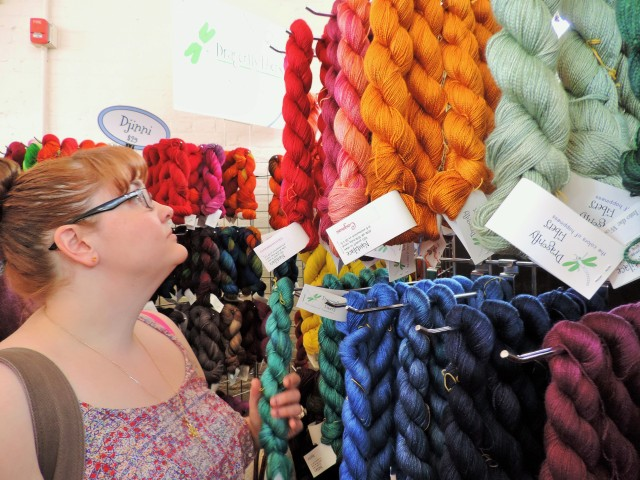 Dragonfly Fibers at Homepsun Yarn Party